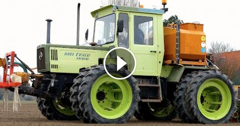 Classic MB Trac 1000 | Drilling Sugar Beets with in row fertilizing