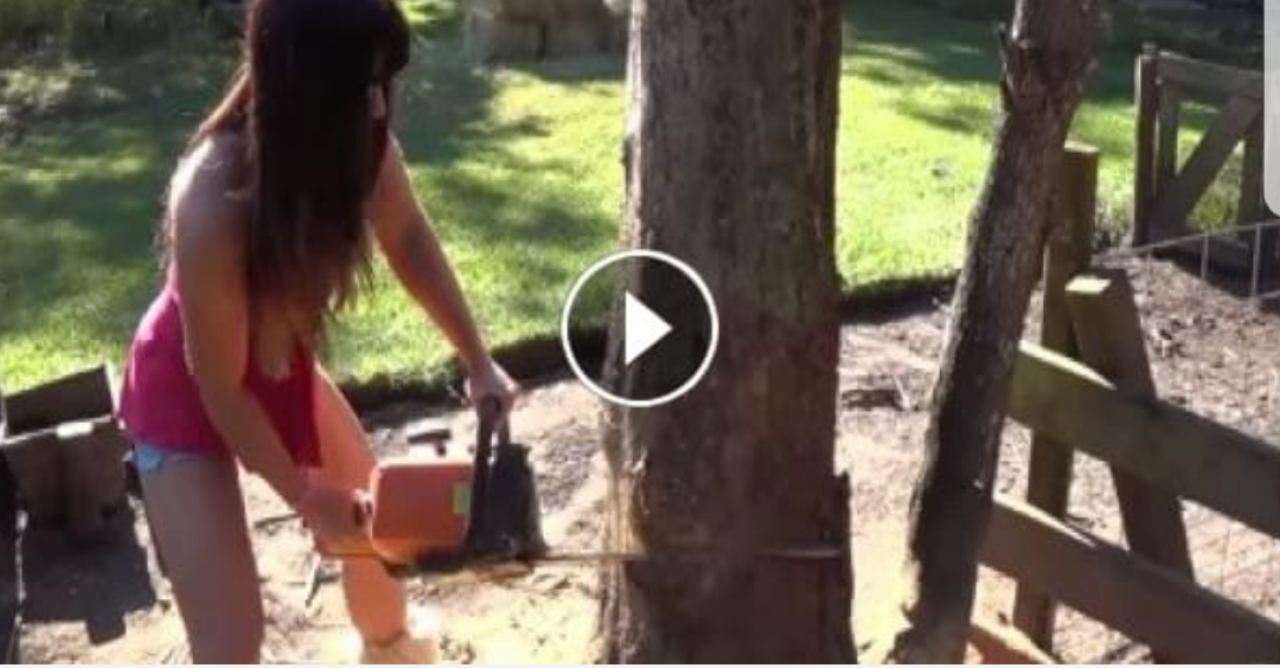 48 Year Old Beautiful Lumberjack Chainsaw Survival Chick